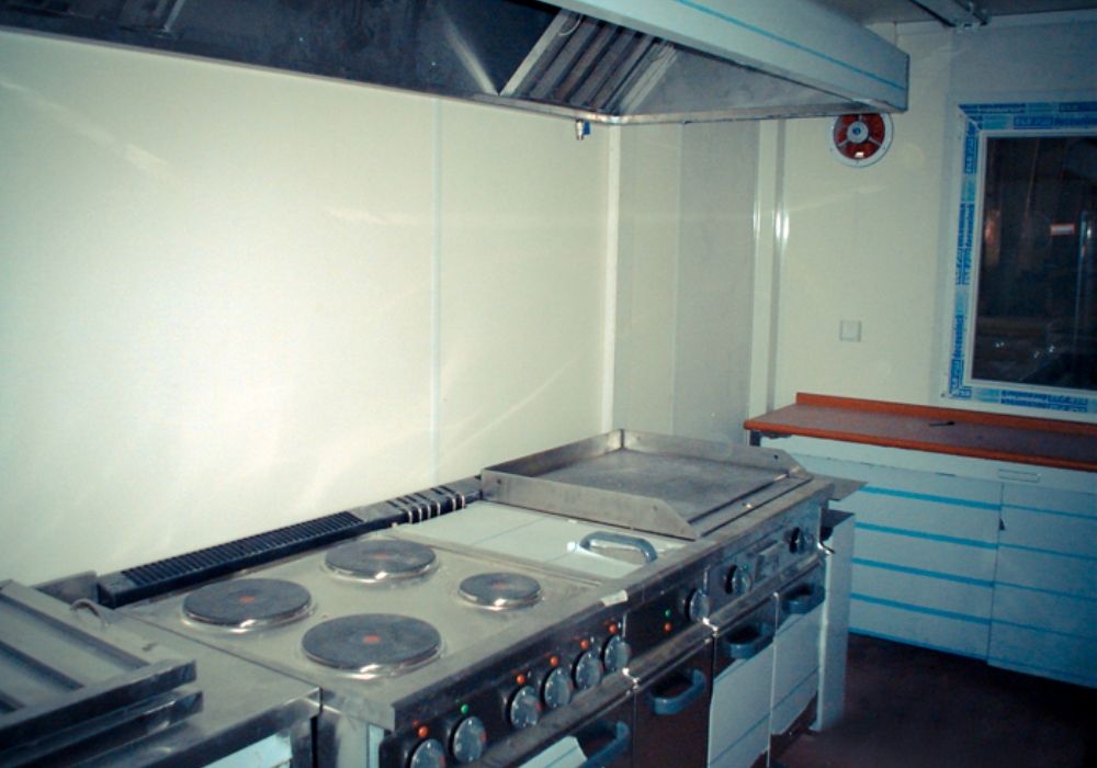 15 Fully Functioning Kitchen-Cafeteria Complexes (50 person capacity each)