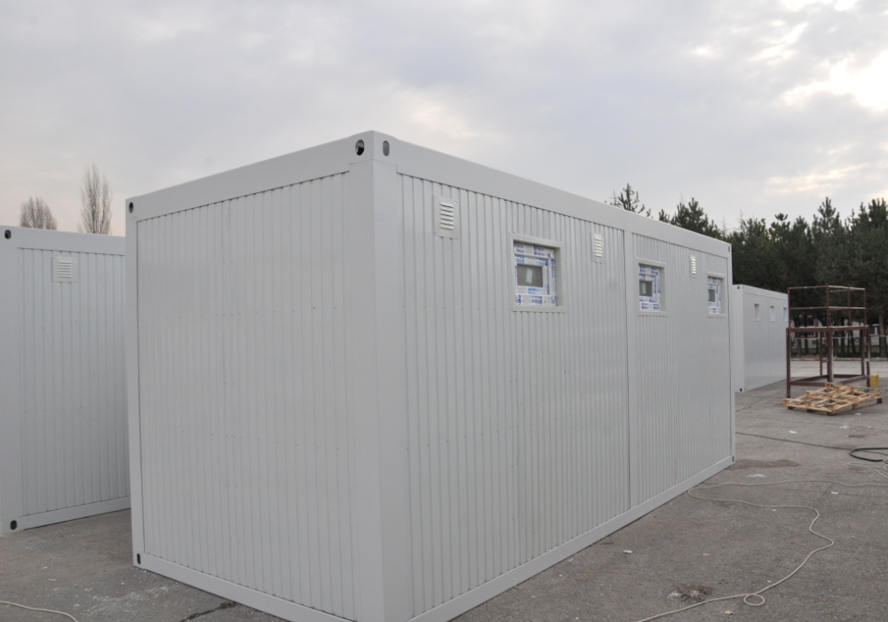 300 Shower and WC Containers for Refugee